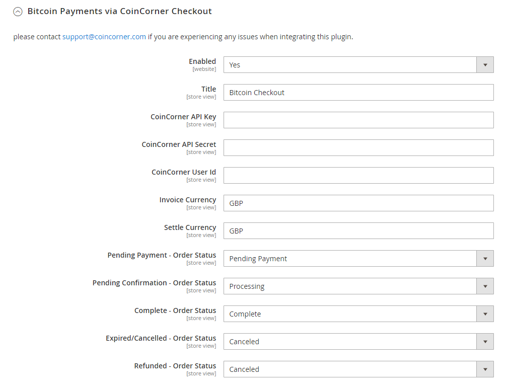 Install plug in on payment methods page